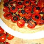 Crostata di pomodorini ciliegini