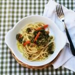 Spaghetti asparagi e pistacchi