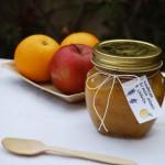 Marmellata di mele golden e fiori di lavanda