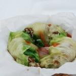 Involtini di lattuga con macinato e riso