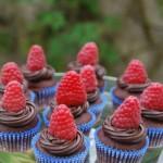 Cupcakes cioccolato e lamponi
