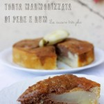 Torta marmorizzata di pere e rum