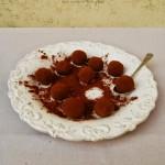Tartufi al cacao e crema di castagne