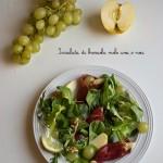 Insalata di bresaola mele uva e noci