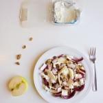 Insalata di radicchio trevigiano, gorgonzola e mela golden
