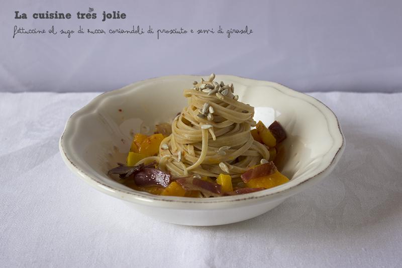 Fettuccine zucca prosciutto semi 1