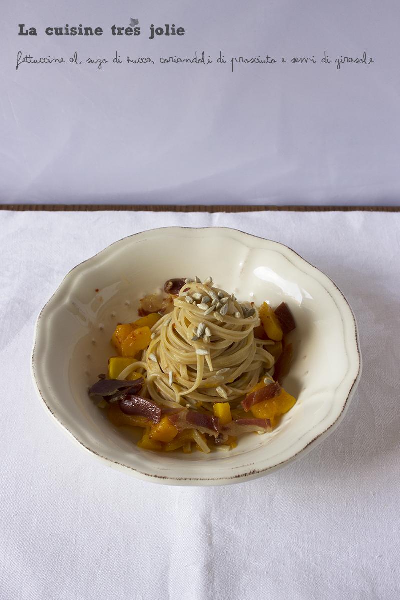 Fettuccine zucca prosciutto semi 2