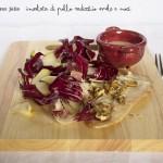 Insalata di pollo, radicchio, mele e noci