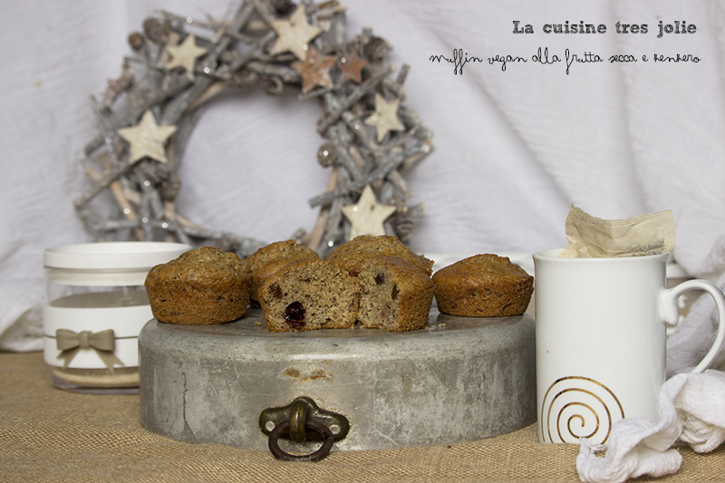 Muffin vegan frutta secca 4