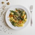 Conchiglie vegan alle verdure e semini