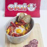 Uova alla basca con Salame Campagnolo Clai