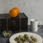 Tartufi tahina e cioccolato fondente
