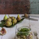 Insalata di quinoa fichi e gorgonzola