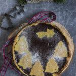 Crostata natalizia al cioccolato fondente