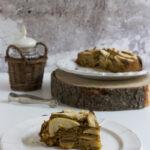 Torta di mele senza burro con farina di avena