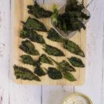 Chips di spinaci