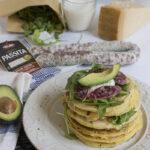 Pancake salati e Salsiccia Passita Clai salumi